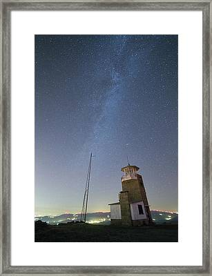 Framed Print featuring the photograph Arouca And The Milky Way by Bruno Rosa