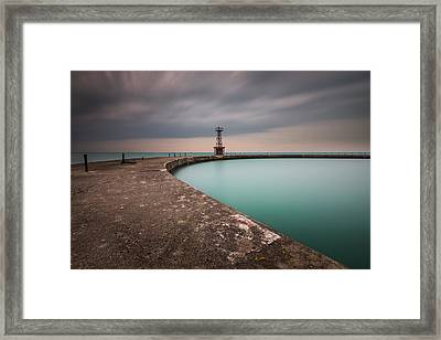 Around The Aqua Framed Print by Josh Eral