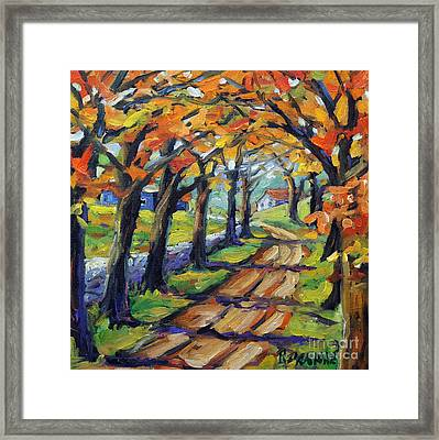 Around The Bend By Prankearts Framed Print