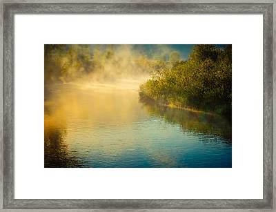 Framed Print featuring the photograph Around The Bend by Don Schwartz
