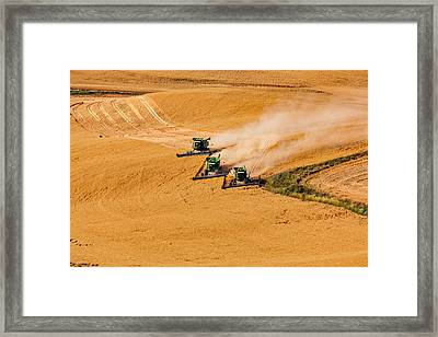 Around The Bend Framed Print by Mary Jo Allen