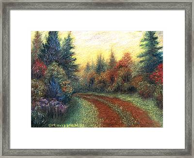 Around The Bend 01 Framed Print