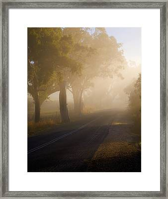 Around The Bend Framed Print by Mike  Dawson