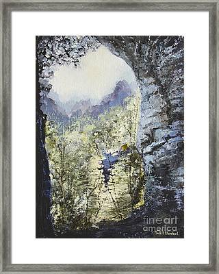 Framed Print featuring the painting Around The Bend by Todd Blanchard