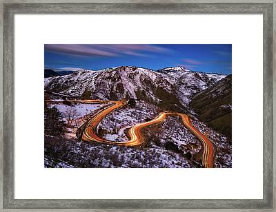 Around The Bends Framed Print by Darren White