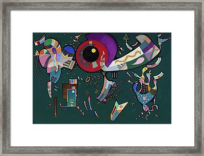 Around The Circle Framed Print by Wassily Kandinsky