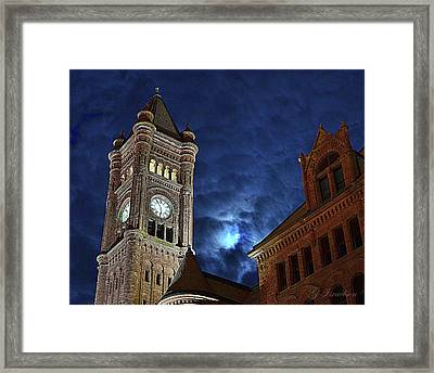 Around The Clock Tower Framed Print