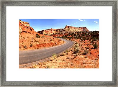 Around The Corner At Capitol Reef Framed Print by Adam Jewell