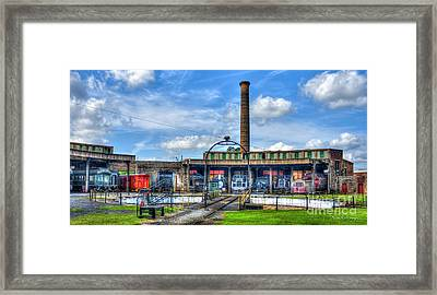 Around The House Turntable Central Of Georgia Railroad Art Framed Print