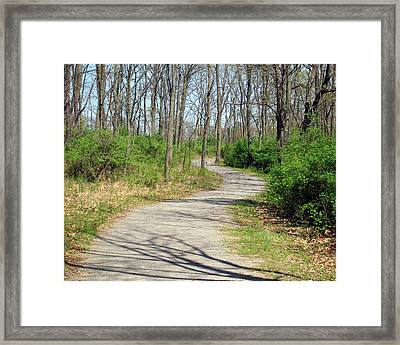 Around The Next Bend Framed Print