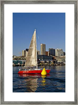 Around The Pylon Framed Print by Tom Dowd
