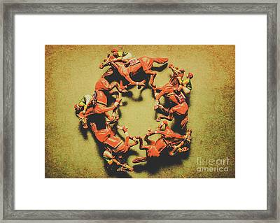Around The Racetrack Framed Print