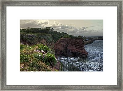 Around The Red Rock Framed Print by Rob Hawkins