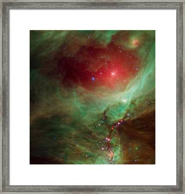 Around The Sword Of The Constellation Orion  Framed Print by American School