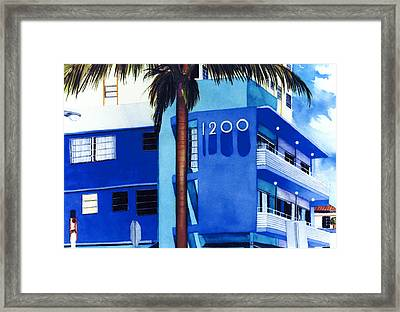 Around Twelve Noon In South Beach Framed Print by Maureen Piccirillo