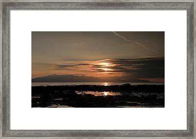 Arran Sunset Framed Print by Sam Smith