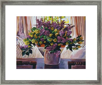 Arrangement In Lavender Framed Print