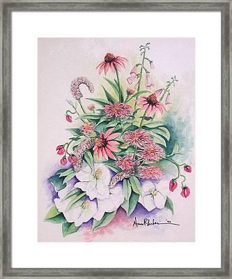Arrangement In Pink Framed Print by Anne Rhodes