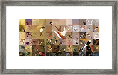 Arraygraphy - Birdies Sepia, Triptych  Framed Print by Arthur Babiarz