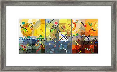 Arraygraphy - Sport Activity, Triptych Framed Print