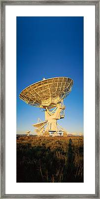 Arraysatellite Dish Aimed Towards Sky Framed Print