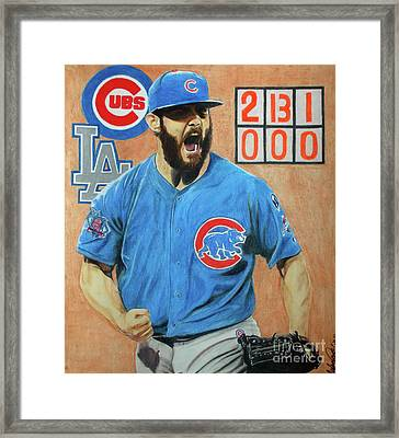 Arrieta No Hitter - Vol. 1 Framed Print by Melissa Goodrich