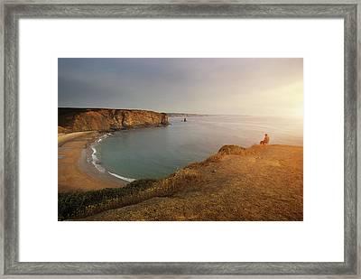 Arrifana Beach Framed Print by Carlos Caetano