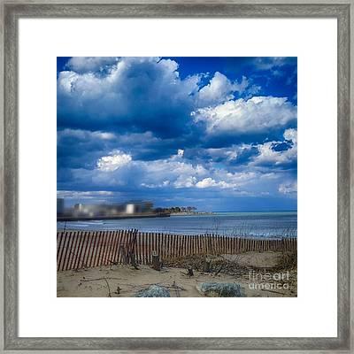 Arrington Lakefront Lagoon Photo Art 03 Framed Print