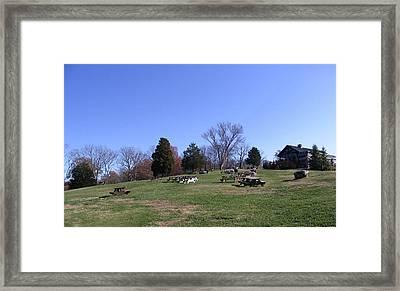 Arrington Vineyards Landscape Framed Print by Marian Bell