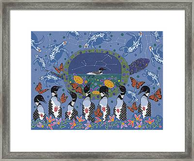 Framed Print featuring the painting Arrival Of Wintermaker by Chholing Taha