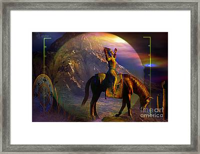 Arrival Framed Print by Shadowlea Is