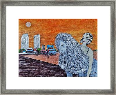 Framed Print featuring the painting Arrival To San Diego by Jasna Gopic
