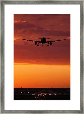 Arriving At Day's End Framed Print