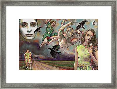 Arriving Bodies Framed Print by Michael Bish