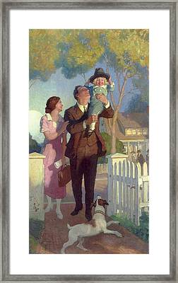 Arriving Home Framed Print by Newell Convers Wyeth