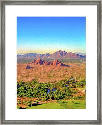 Arriving In Phoenix Digital Watercolor Framed Print