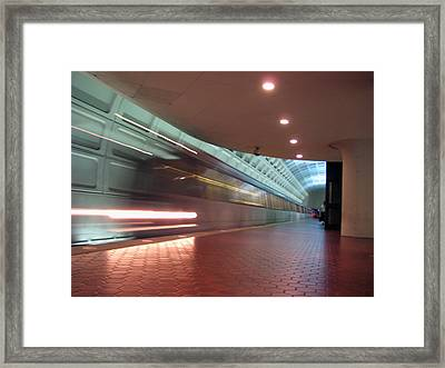 Arriving Framed Print by Sean Owens