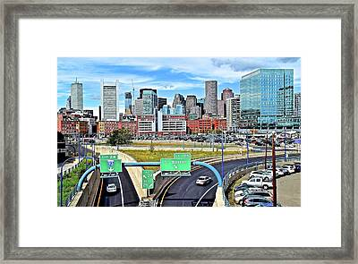 Arriving To Boston Framed Print by Frozen in Time Fine Art Photography