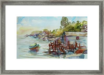 Arriving Framed Print by Xueling Zou