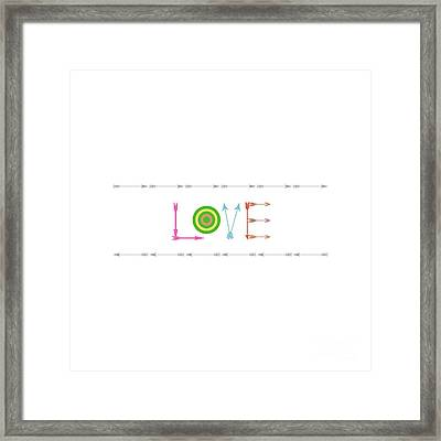 Arrow Love - Changeable Background Color Framed Print