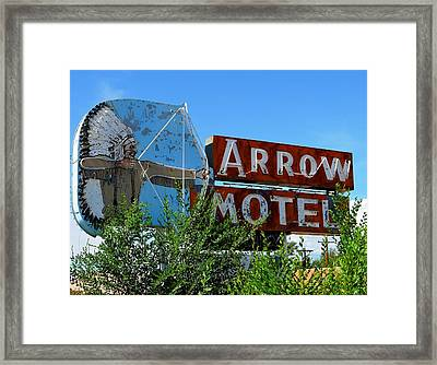 Arrow Motel Framed Print