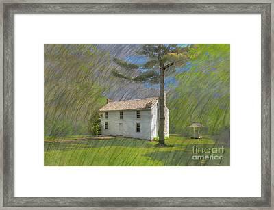 Academy Boarding House Framed Print by Larry Braun