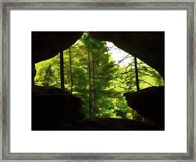 Arrowhead Cavern Framed Print by Dan Sproul