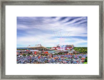Arrowhead Touchdown Celebration Framed Print