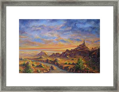 Arroyo Sunset Framed Print by Thomas Restifo