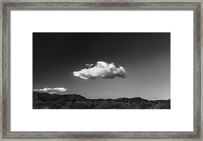 Arroyo Tapiado With Cloud Framed Print