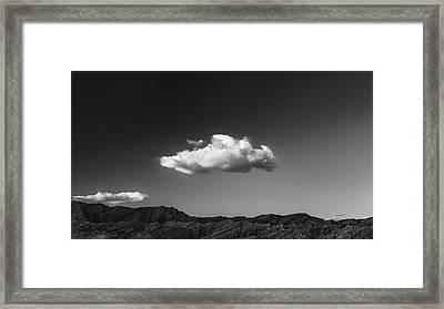 Arroyo Tapiado With Cloud Framed Print by Joseph Smith