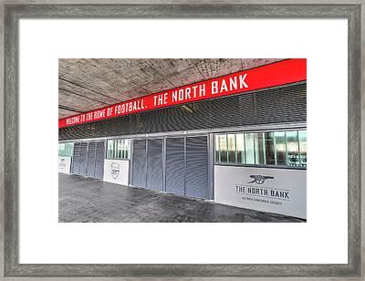 Arsenal Fc Emirates Stadium London North Bank Framed Print by David Pyatt