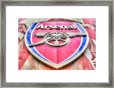 Arsenal Football Club Symbol Framed Print by David Pyatt