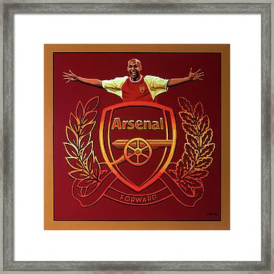 Arsenal London Painting Framed Print